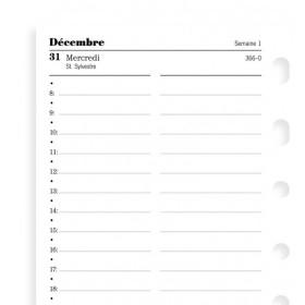 Recharge agenda FILOFAX organiseur POCKET - 1 jour par page - 81x120mm