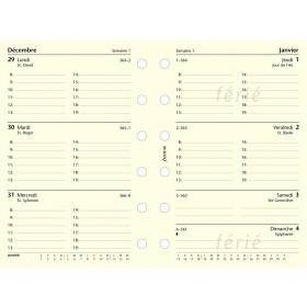 Recharge agenda FILOFAX organiseur POCKET - 1 semaine sur 2 pages - 81x120mm - HORIZONTAL