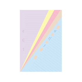 Recharge FILOFAX organiseur POCKET - Feuilles de notes ligné coloris assortis - 81x120mm
