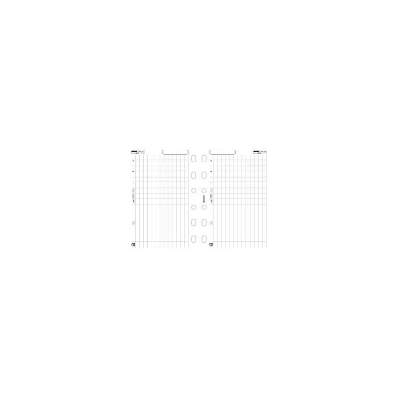 Recharge FILOFAX organiseur POCKET - Recettes/Dépenses - 81x120mm