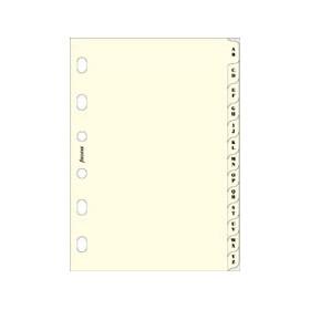 Recharge FILOFAX organiseur POCKET - Intercalaire alphabétique ivoire - 81x120mm