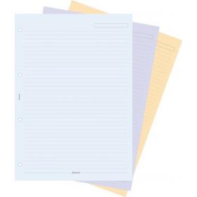 Recharge FILOFAX organiseur A4 - Feuilles de notes ligné coloris assortis - 210x297mm