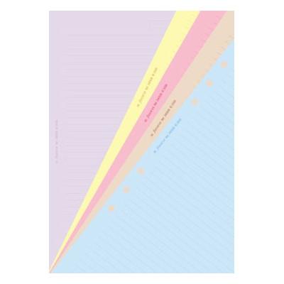 Recharge FILOFAX organiseur A5 - Feuilles de notes ligné coloris assortis - 148x210mm
