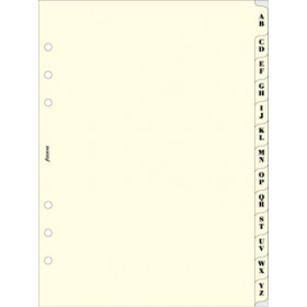 Recharge FILOFAX organiseur A5 - Répertoire alphabétique ivoire - 148x210mm