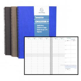 Agenda EXACOMPTA Consultation W Carte Napura - 297x210mm - 1 semaine sur 2 pages - spirale (COLORIS ALEATOIRES)