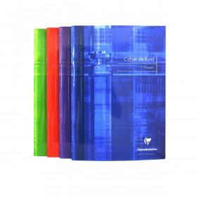 Cahier de bord CLAIRFONTAINE - 21x29,7cm couverture rigide - 48 pages - 7 classes