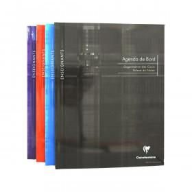 Agenda de bord CLAIRFONTAINE - 24x32cm - 6 colonnes (48 cases/semaine) brochure souple 144 pages