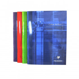 Cahier de bord CLAIREFONTAINE - 21x29,7cm - 60 pages - 9 classes