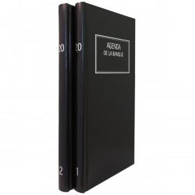 Agenda de la Banque LECAS Long 15 x 34 cm - Réglure double colonne, Euros et centimes 2 volumes - 1 jour sur 2 pages