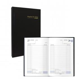 Agenda Perpétuel de caisse Journalier BREPOLS 13.3x21 noir