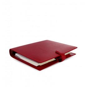 Organiseur FILOFAX A5 23,4x20,3cm FINSBURY ROUGE en cuir de vachette - 1 semaine sur 2 pages VERTICAL