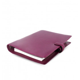 Organiseur FILOFAX A5 23,4x20,3cm FINSBURY FRAMBOISE en cuir de vachette - 1 semaine sur 2 pages VERTICAL