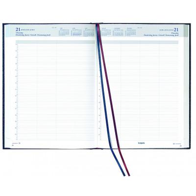 Agenda journalier BREPOLS Bremax 2 - 1 jour sur 2 pages 21 x 29 cm (bordeaux)