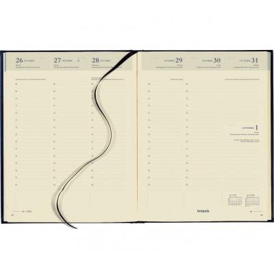 Agenda BREPOLS Timing 17,2 x 22 cm - 1 semaine sur 2 pages Couverture Rigide