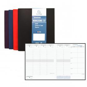 Agenda EXACOMPTA Horizon 22 Winner - 225x185mm - 1 Semaine sur 2 pages (COLORIS ALEATOIRES)