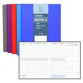 Agenda EXACOMPTA Horizon 22 Luciole - 225x185mm - 1 Semaine sur 2 pages (COLORIS ALEATOIRES)