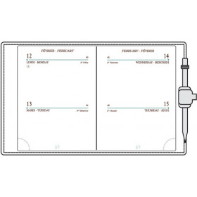 Agenda MIGNON A10 - 90x68mm - cuir Veau BOBOLI Noir