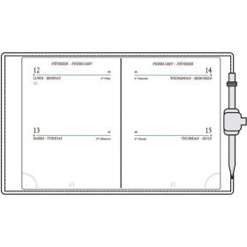 Recharge MIGNON A10 - 90x68mm - 2 jours par page + répertoire