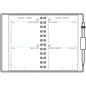 Recharge MIGNON AG12 - 120x73mm - 2 jours par page + répertoire