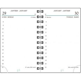 Recharge MIGNON TG12 - 120x73mm - 1 jour par page + répertoire