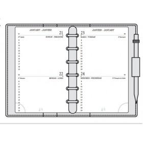 Recharge MIGNON AK12 - 120x73mm - 2 jours par page + répertoire