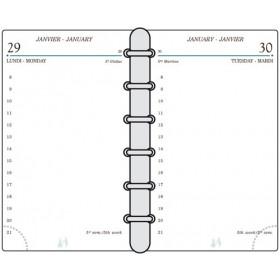 Recharge MIGNON TK12 - 120x73mm - 1 jour par page + répertoire