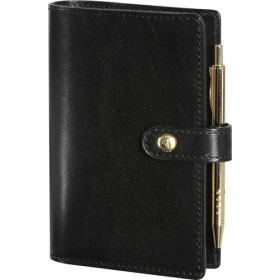 Agenda MIGNON SK12 - 120x73mm - cuir Veau BOBOLI Noir