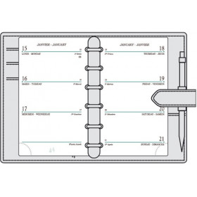 Recharge MIGNON SK12 - 120x73mm - 1 semaine sur 2 pages horizontal