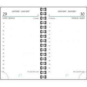 Recharge MIGNON TS12 - 120x73mm - 1 jour par page spiralée + répertoire