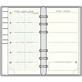 Recharge MIGNON AK18 - 170x94mm - 1 semaine sur 2 pages + notes
