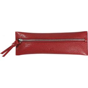 Trousse MIGNON - 65x183mm cuir Chèvre Diana Rouge plate zippée