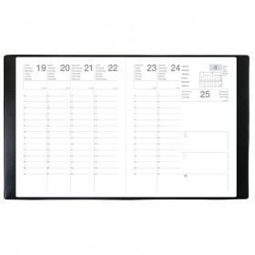 Agenda scolaire ECO - 21X27 cm - SEPT 27 ML Alpha noir - 1 semaine sur 2 pages