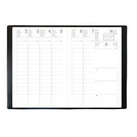 Agenda scolaire ECO - 16x24 cm - CALLIOPE ML Alpha noir - 1 semaine sur 2 pages