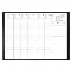 Agenda scolaire ECO - 10x15 cm - SCOLEXDI ML Alpha noir - 1 semaine sur 2 pages