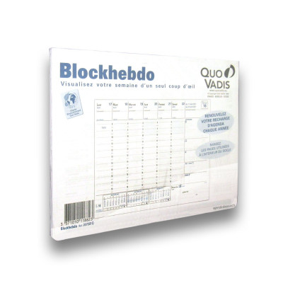 Recharge QUOVADIS BLOCKHEBDO pour socle Blockhebdo