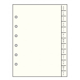Recharge MIGNON - 170x141mm RK17 - Répertoire alphabétique