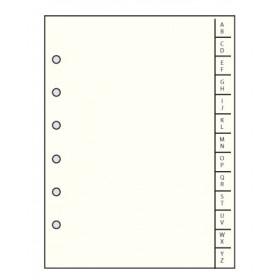 Recharge MIGNON - R Index alphabétique 24 feuillets