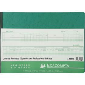 Piqûre 27x38cm EXACOMPTA (9620E) Journal des Recettes Dépenses des Professions libérales - 80 pages