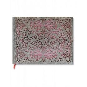 Livre D'or non ligné PAPERBLANKS Collection Filigrane Argenté Rose Tendre format 230x180mm