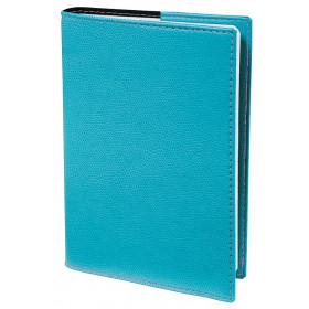 Agenda QUOVADIS TEXTAGENDA Club - Bleu Turquoise - 12x17cm - 1 jours sur 2 pages