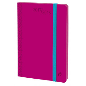 Agenda QUOVADIS HORIZONTAL 15 SD Velvet - Rose Pivoine - 10x15cm - 1 semaine sur 2 pages