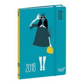 Agenda QUOVADIS AFFAIRES PRESTIGE Ennji - Lunettes - 10x15cm - 1 semaine sur 2 pages