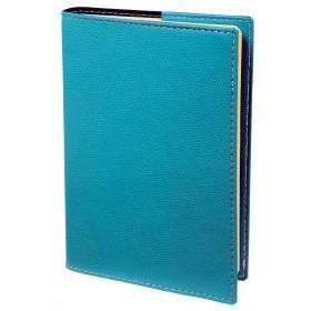 Agenda QUOVADIS MINISTRE PRESTIGE Club - Bleu Turquoise - 16x24cm - 1 semaine sur 2 pages