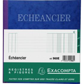 Piqûre 21x19cm EXACOMPTA (960E) échéancier tracé journal - 80 pages