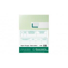Registre 32x24cm EXACOMPTA (4440E) Objets mobiliers - Spécial brocanteurs et antiquaires - 100 pages