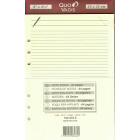 Recharge QUOVADIS Notes papier ligné ivoire 15 x 21cm pour TIMER 21