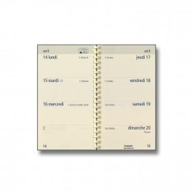 Recharge agenda BREPOLS Optivsion pocket spirale - 9x16cm - 1 semaine sur 2 pages