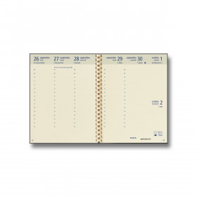 Recharge agenda BREPOLS Optivision large - 17x22cm - 1 semaine sur 2 pages