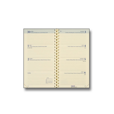 Recharge pour agenda BREPOLS Interplan - 9x16cm - 1 semaine sur 2 pages