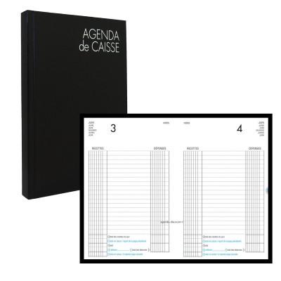 Agenda de caisse LECAS journalier perpétuels 14x22cm - réglure caisse avec report